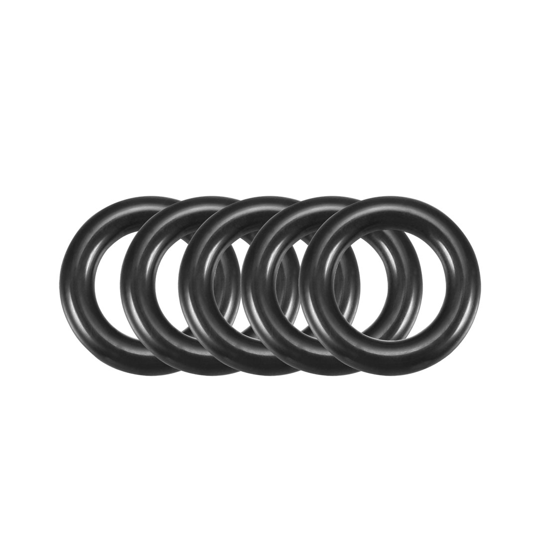 16mm x 3mm Black Nitrile Rubber O Ring NBR Seals Gaskets 50 Pcs