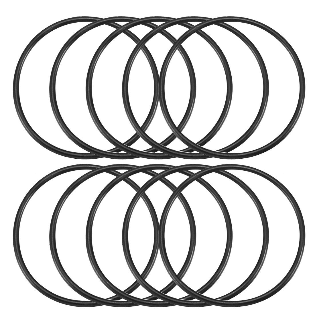 10 Pcs 55mm x 2.5mm x 50mm Mechanical Black NBR O Rings Oil Seal Washers