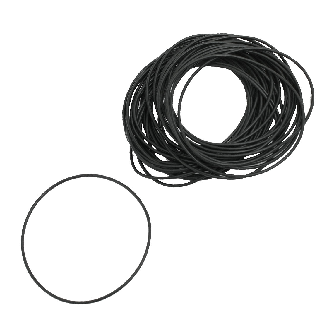 50 Pcs 62mm x 65mm x 1.5mm Nitrile Rubber Sealing O Ring Gasket Washer