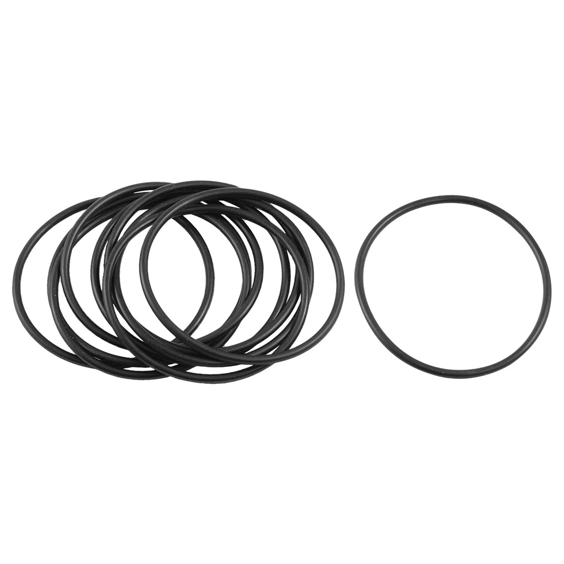 10 Pcs Black Nitrile Rubber O Ring Grommets Seal Washer 40mm x 44mm x 2mm