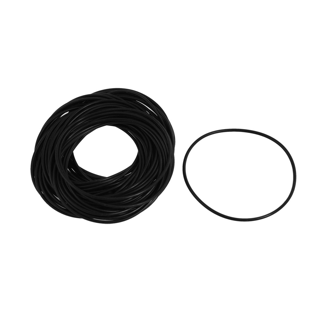 50 Pcs Nitrile Rubber O Ring Oil Sealing Gasket Black 55mm x 1.5mm