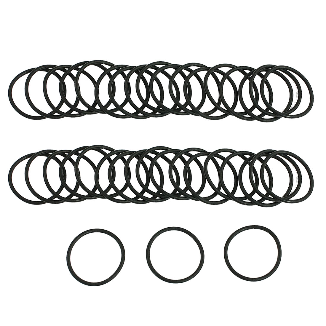 Automobile 15mm x 1mm O Rings Hole Sealing Gasket Washers 50 Pcs