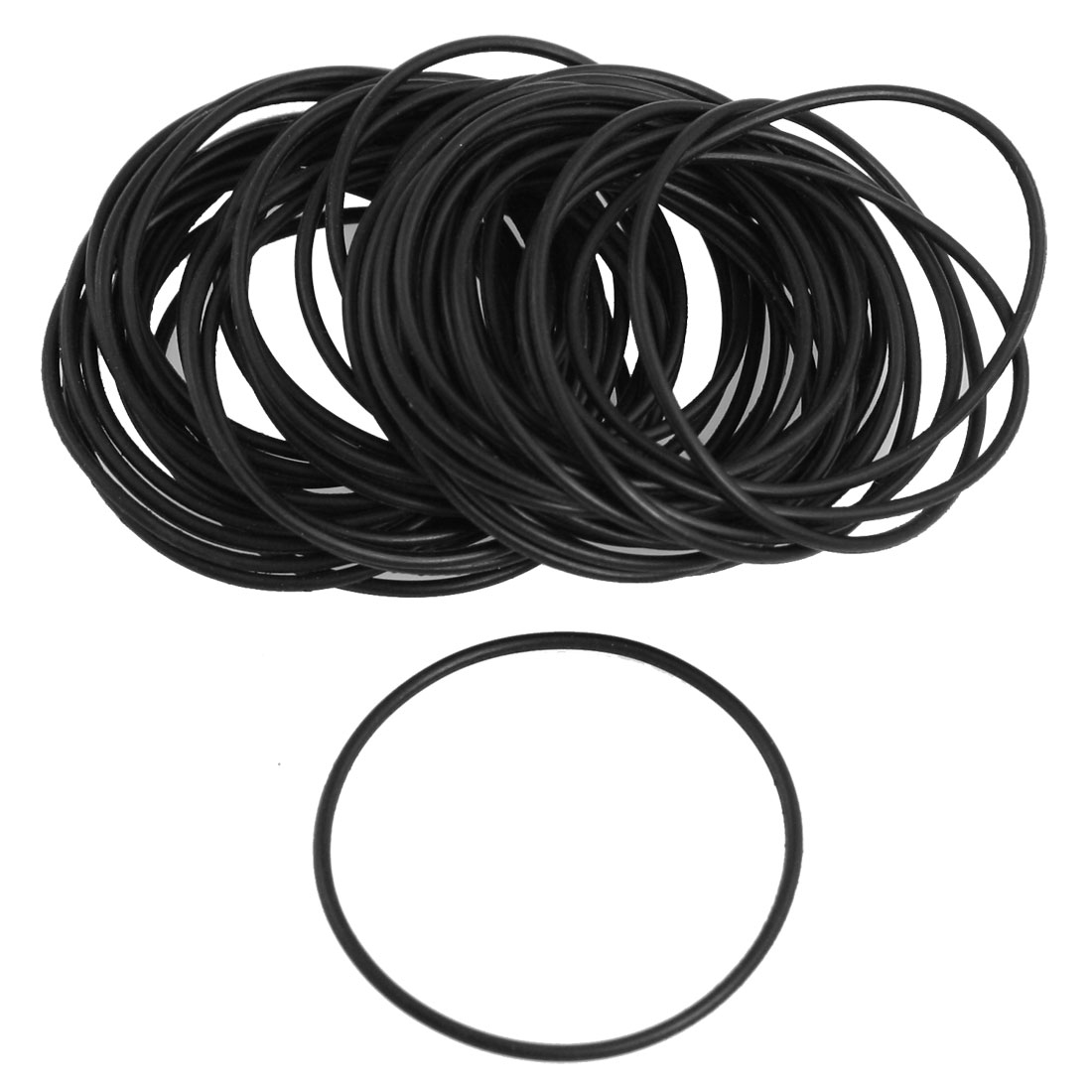 50 Pcs Black Nitrile Rubber O Ring NBR Seal 28mm x 1mm