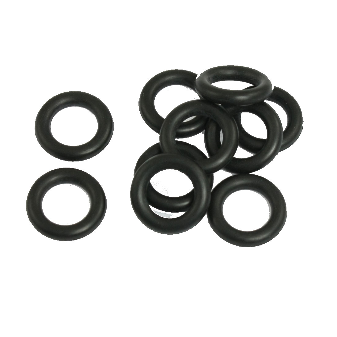 10 Pcs 20mm OD 12mm Inner Dia Black Nitrile Rubber O-ring Oil Seal Gaskets