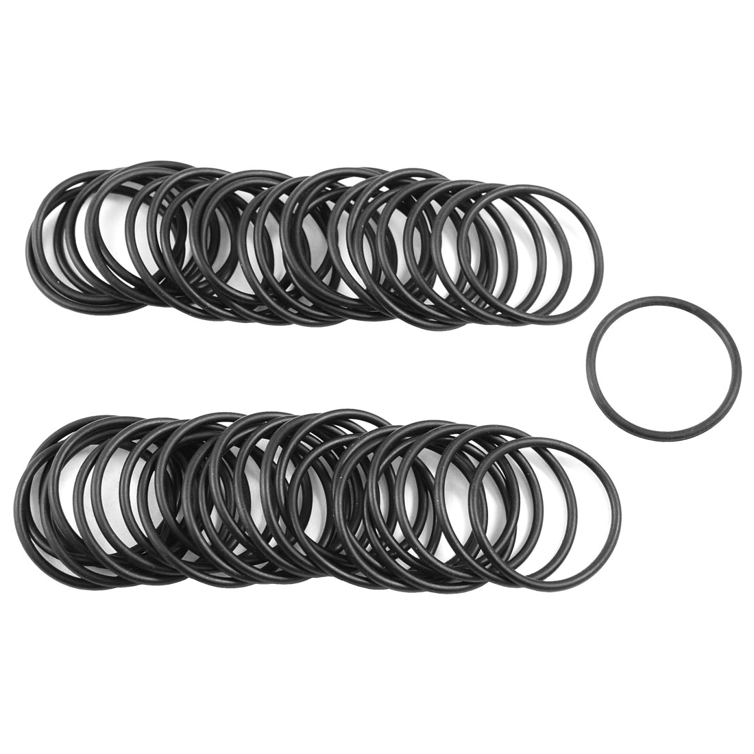 50x NBR 30mm x 2mm Hole Sealing O Rings Gaskets Washers for Automobile