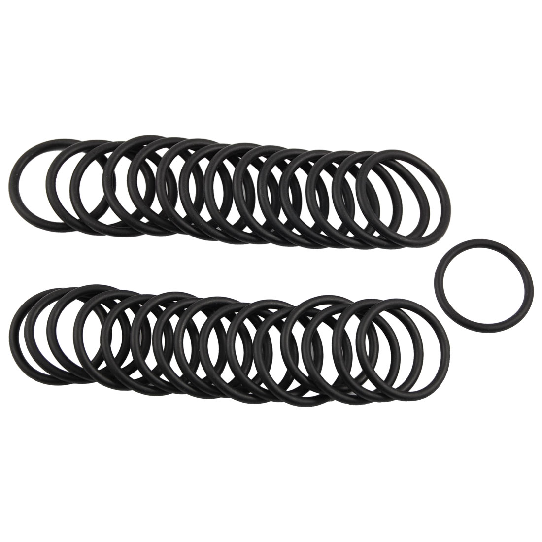 50 Pcs Black Nitrile Rubber O Rings Oil Sealing Gaskets 33mm x 3mm