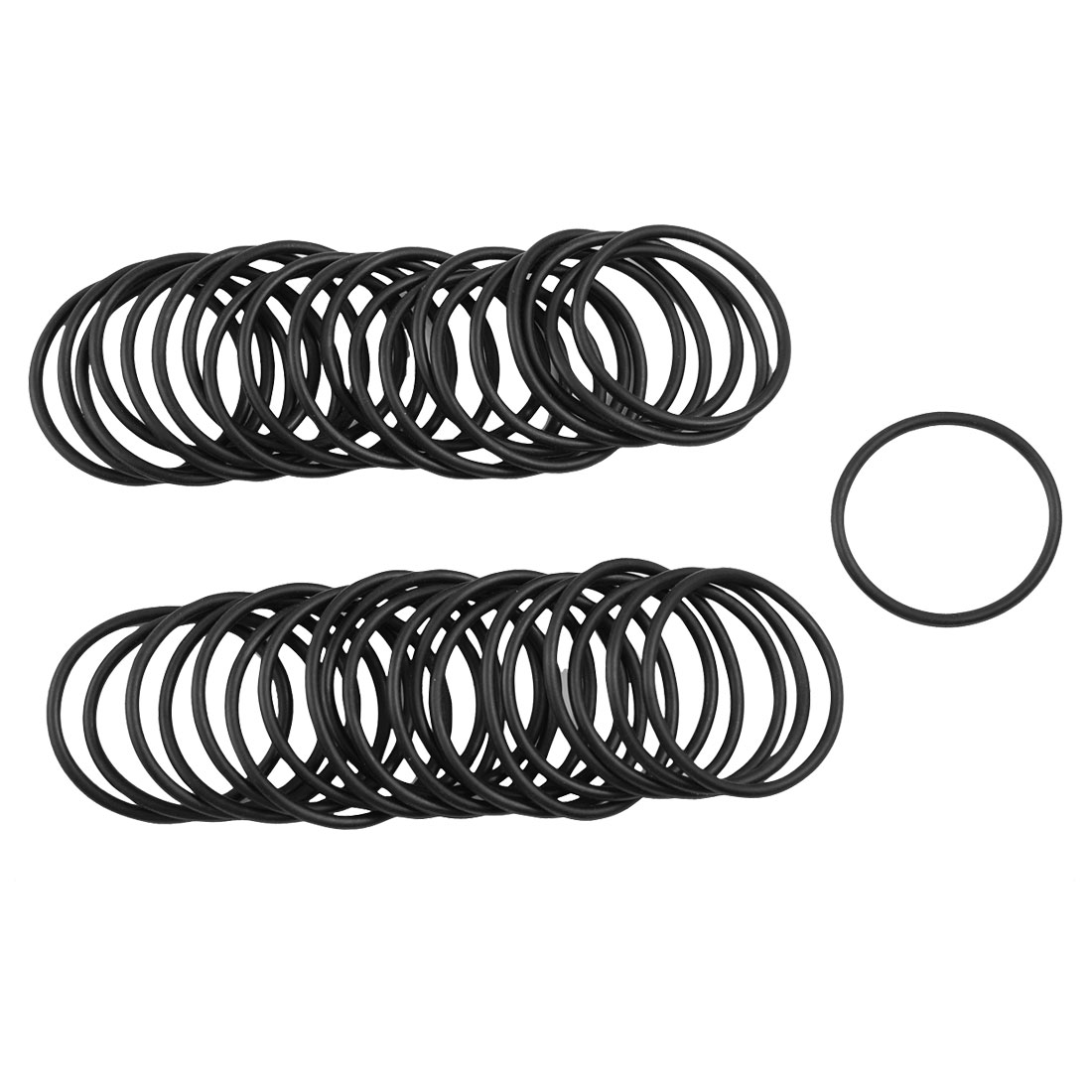 50 x Black 32mm OD 2mm Thickness Nitrile Rubber O-ring Oil Seal Gaskets