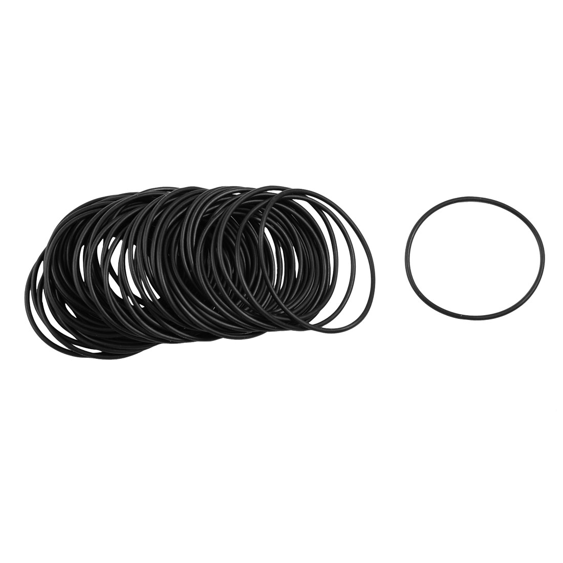 50 Pcs Mechanical Black NBR O Rings Oil Seal Washers 39mm x 1.5mm x 36mm