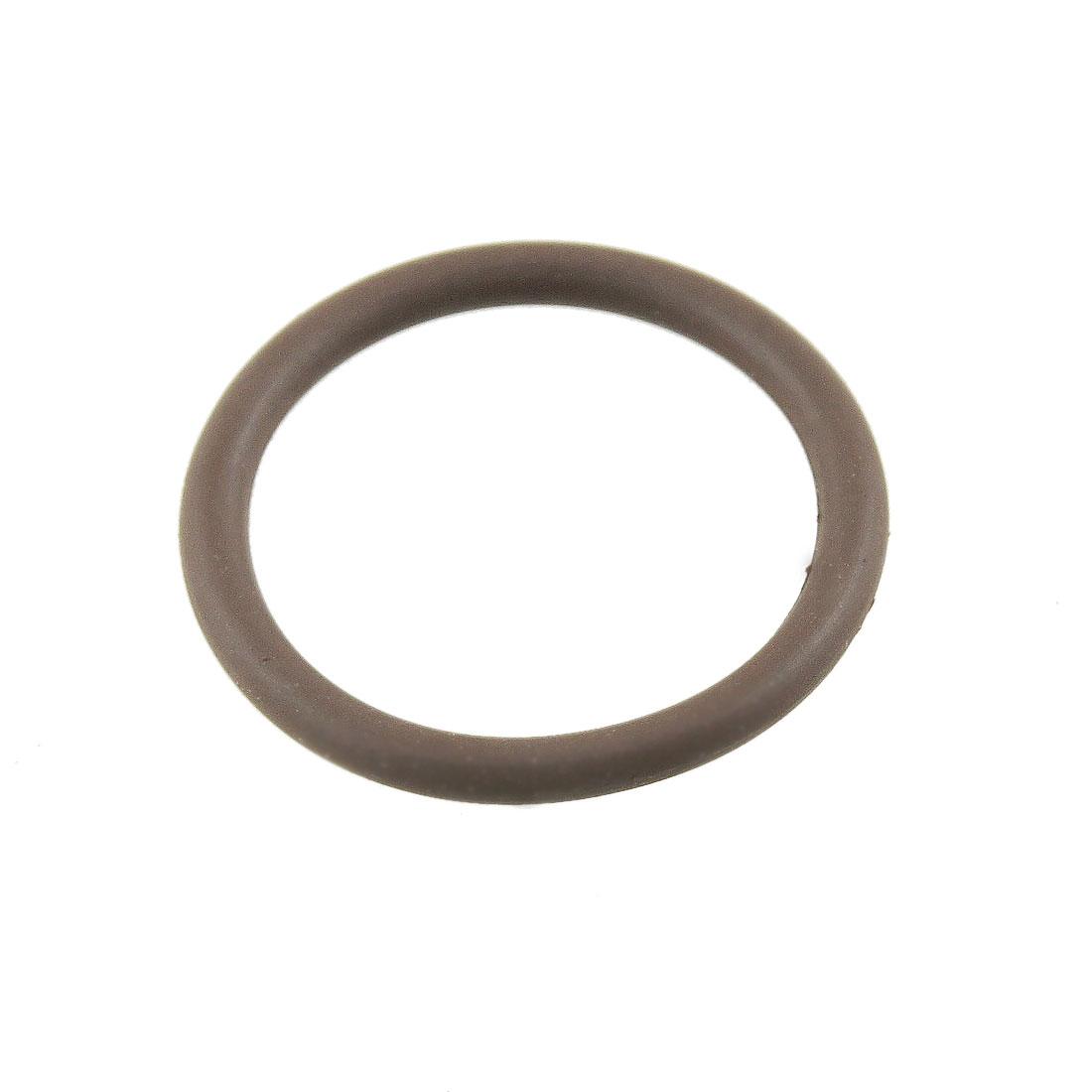 21mm x 17mm x 2mm Fluorine Rubber O Ring Oil Sealing Gasket