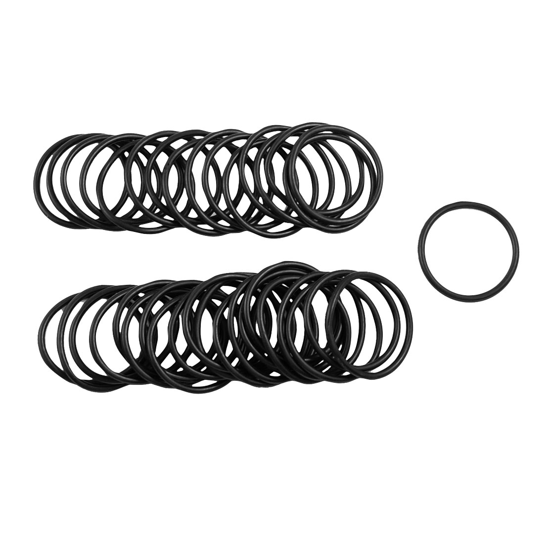 50 x Black 34mm OD 2.5mm Thickness Nitrile Rubber O-ring Oil Seal Gaskets