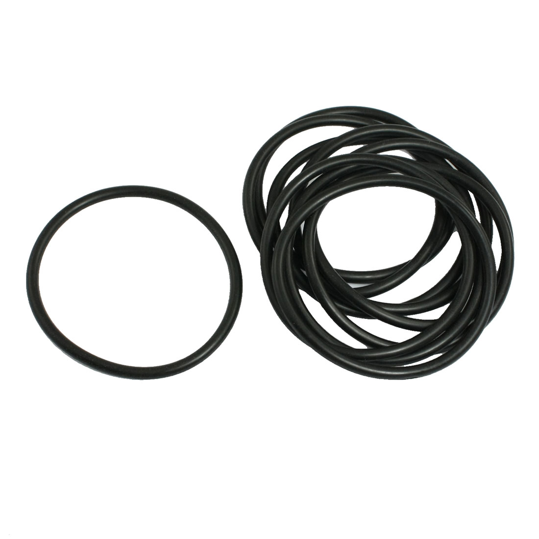 10 Pcs 70mm x 4mm x 62mm Mechanical Black NBR O Rings Oil Seal Washers