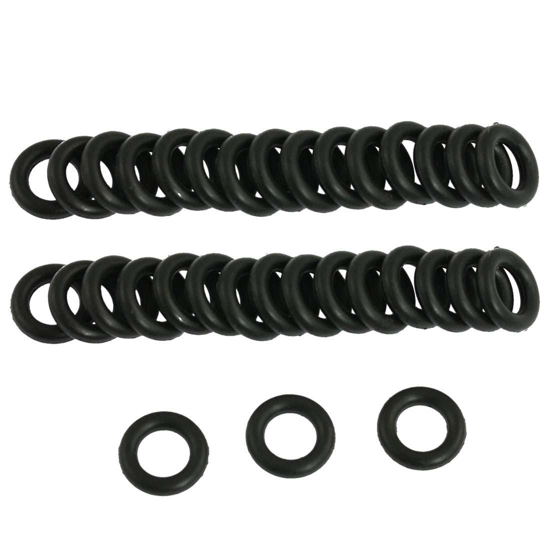 50 Pcs 11mm x 2.5mm Nitrile Rubber O Ring NBR Oil Seal Gaskets