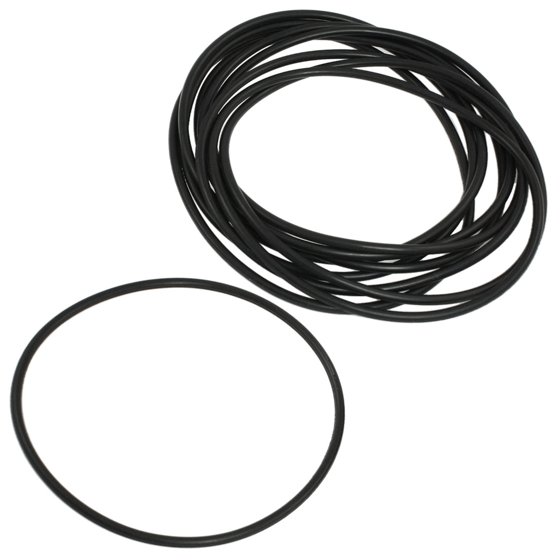 10 Pcs Black Nitrile Rubber O Ring NBR Seals Gaskets 135mm x 4mm