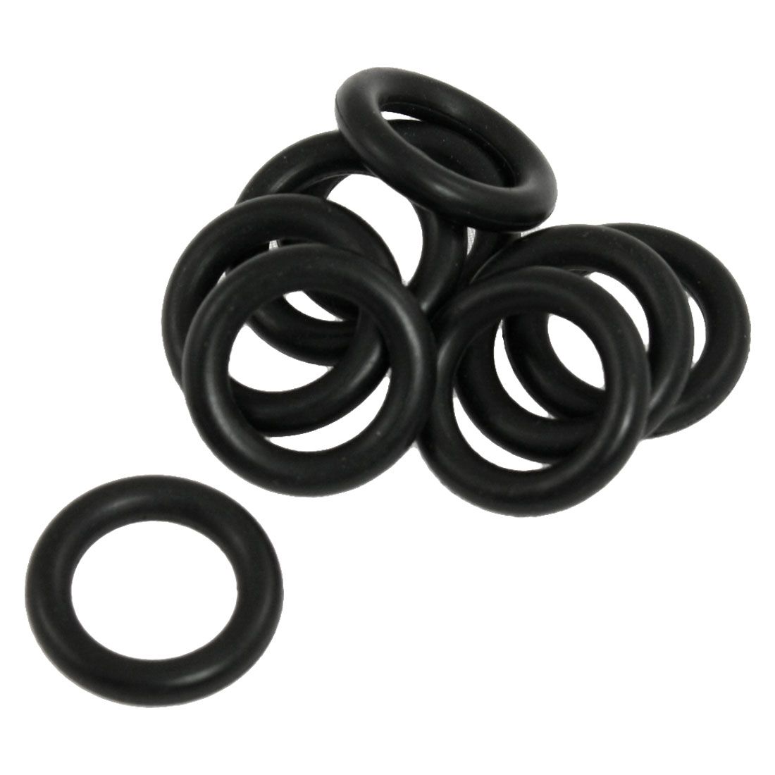 10 Pcs Black Nitrile Rubber Sealing O Ring Gaskets 14mm x 22mm x 4mm