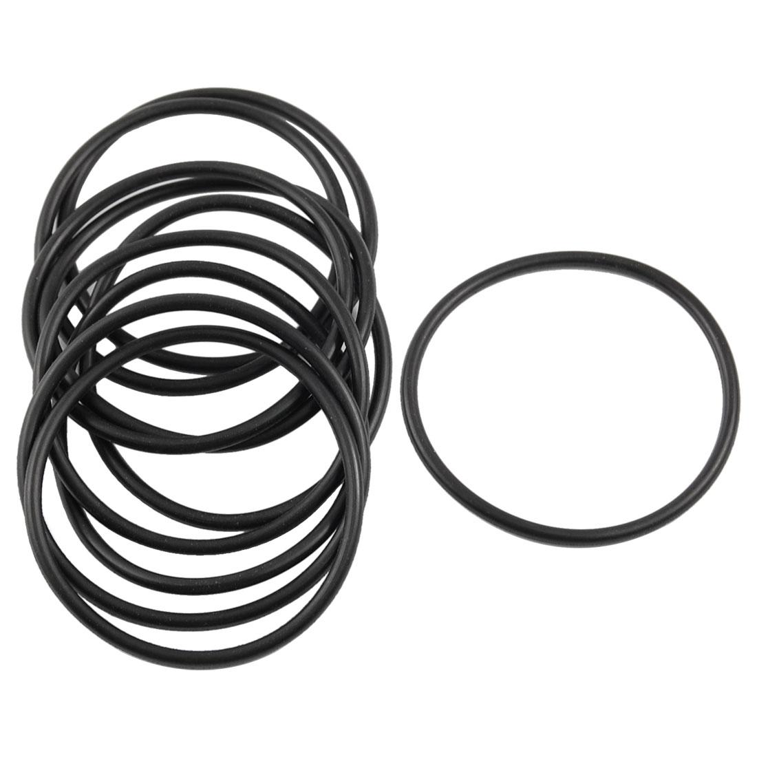10 Pcs 39mm x 2mm x 35mm Mechanical Black NBR O Rings Oil Seal Washers