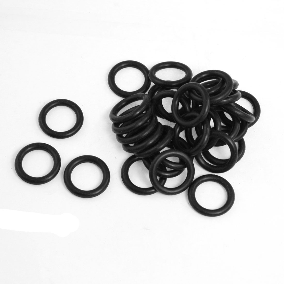50 Pcs 22mm x 3.5mm x 15mm Mechanical Black NBR O Rings Oil Seal Washers