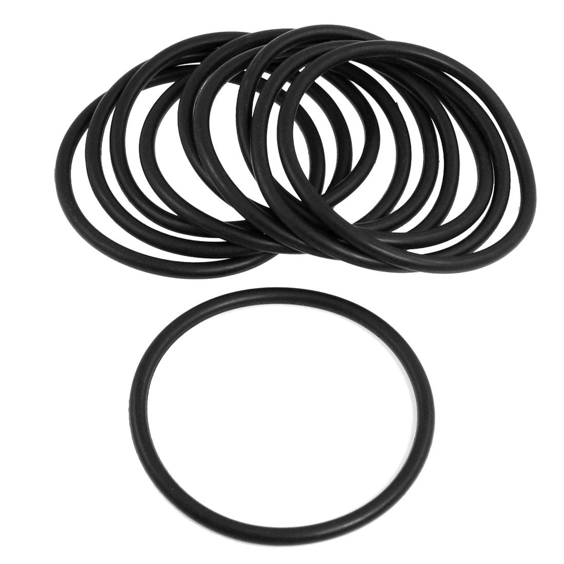 10 Pcs Nitrile Rubber O Ring NBR Gasket Grommets 80mm x 5mm