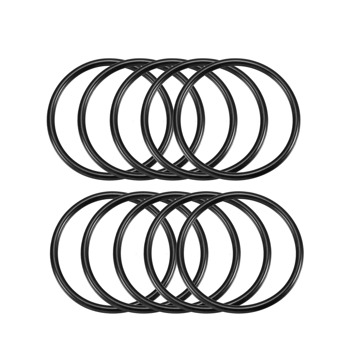10 Pcs Metric O Rings Black Nitrile Rubber 55mm OD 3.5mm Thick