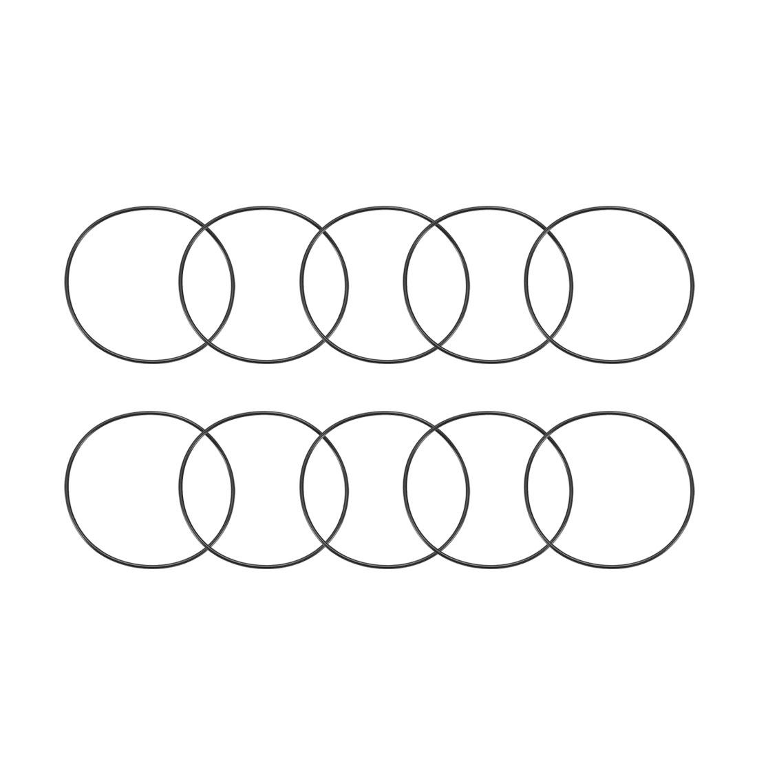 10 Pcs Metric O Rings Black Nitrile Rubber 95mm OD 2.5mm Thick