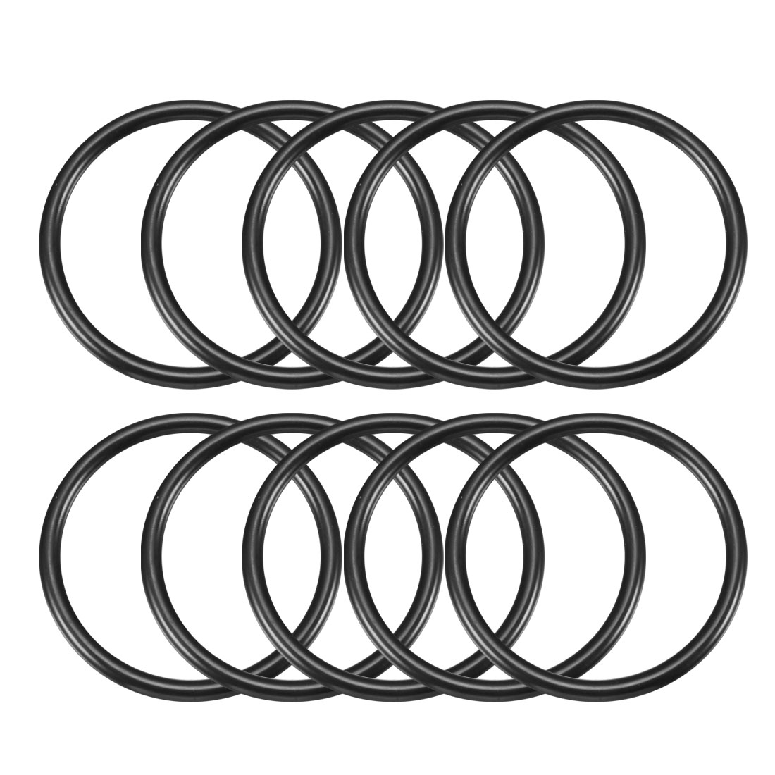 Automobile 75mm x 5.7mm O Rings Hole Sealing Gasket Washer 10 Pcs