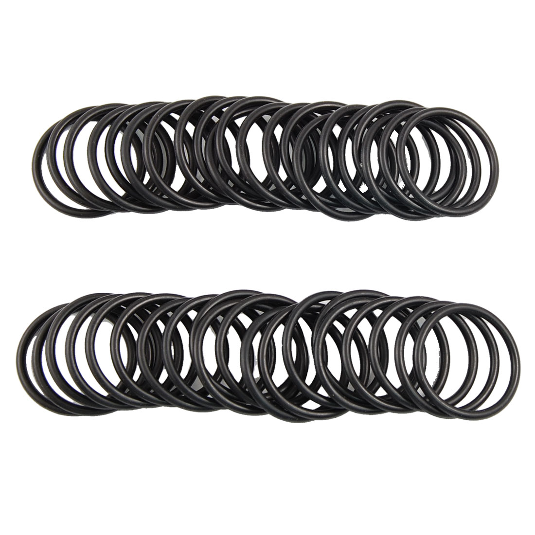 50 Pcs 24mm OD 2.5mm Thickness Nitrile Rubber O-ring Oil Seal Gaskets