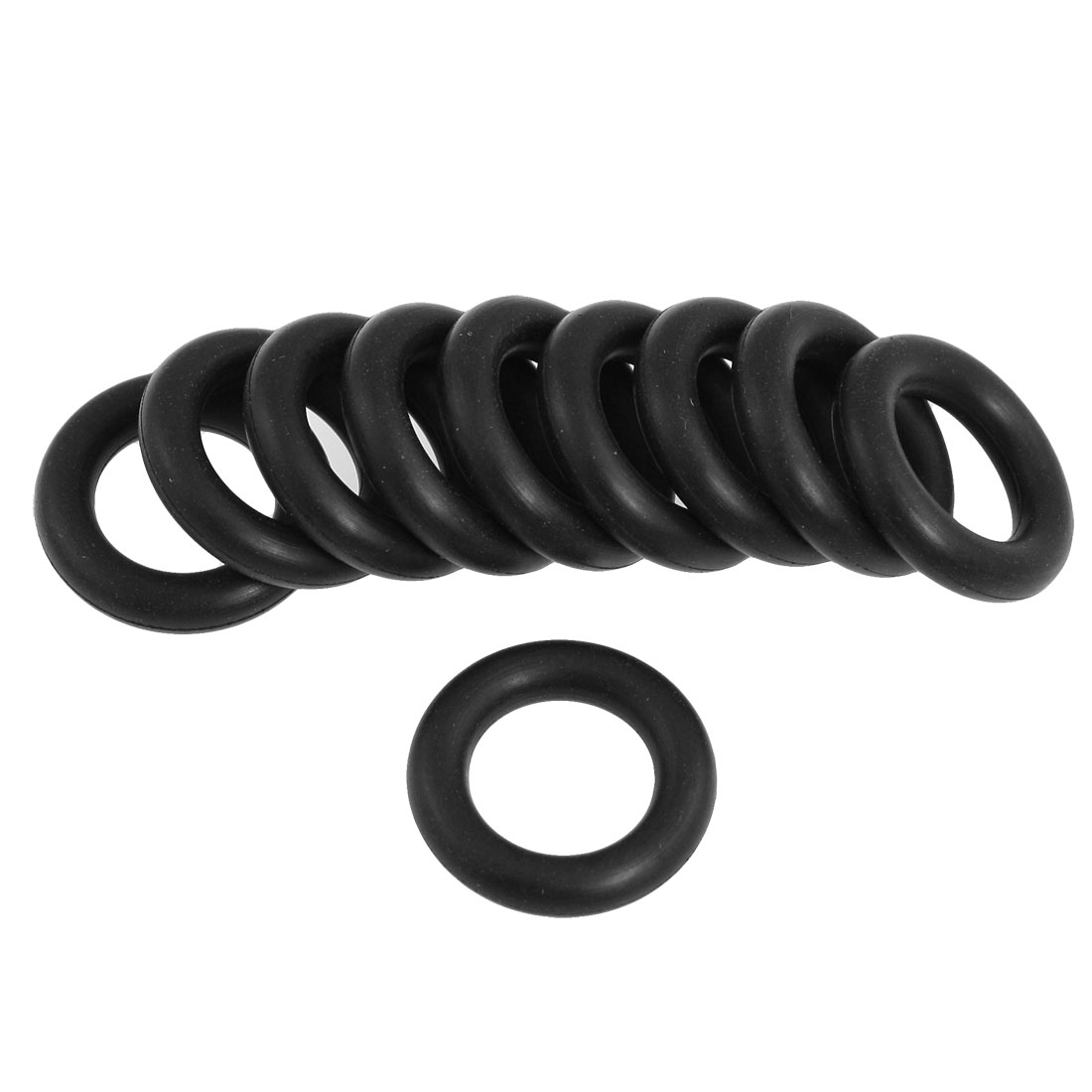 Black 25mm x 5mm O Rings Hole Sealing Gasket Washer 10 Pcs