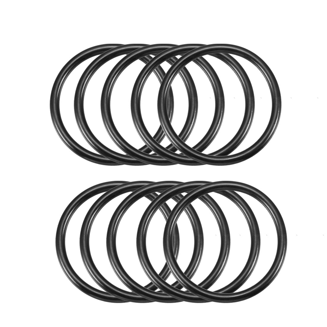 10 Pcs Metric O Rings Black Nitrile Rubber 45mm OD 3.5mm Thick