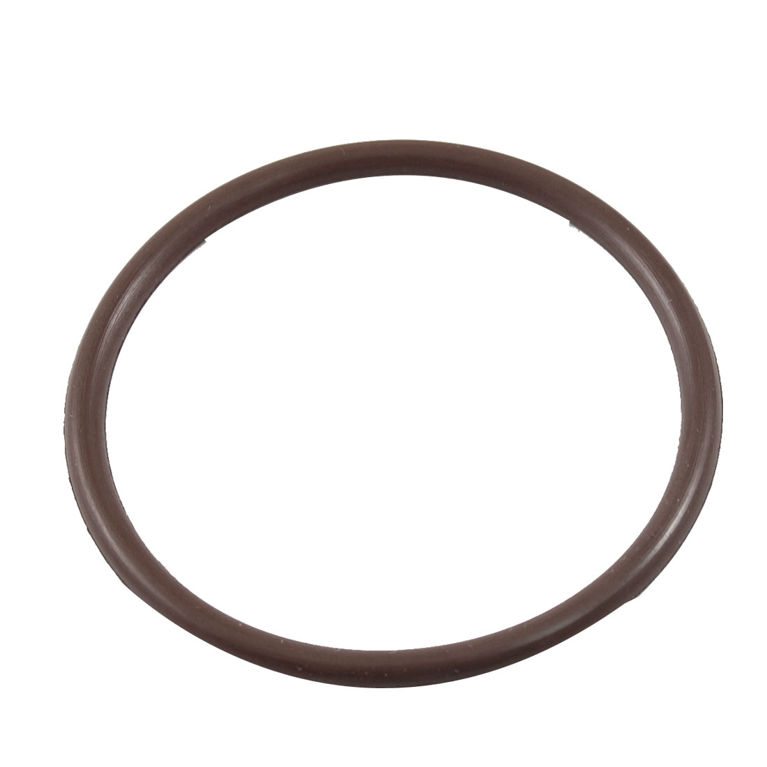 48mm OD 3mm Thickness Coffee Color Fluorine Rubber O-ring Oil Seal