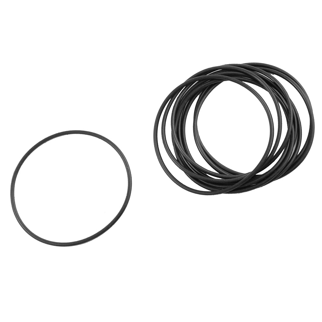 10 Pcs Metric O Rings Black Nitrile Rubber 60mm OD 2mm Thick