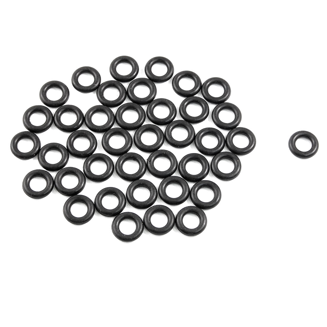 50 Pcs 7mm x 13mm x 3mm Black Nitrile Rubber Sealing O Ring Gasket Washer