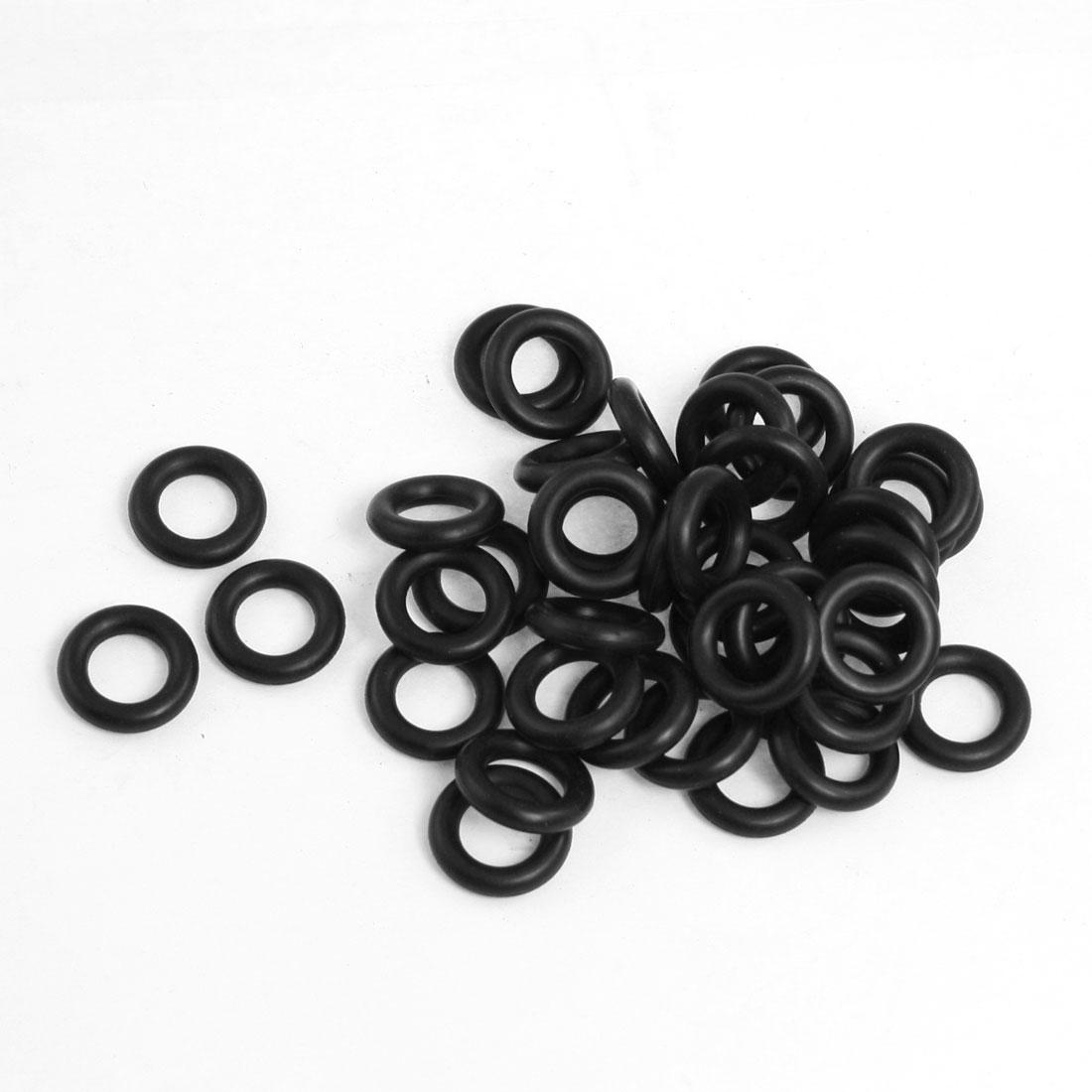 50 Pcs 16mm x 3.5mm x 9mm Mechanical Black NBR O Rings Oil Seal Washers