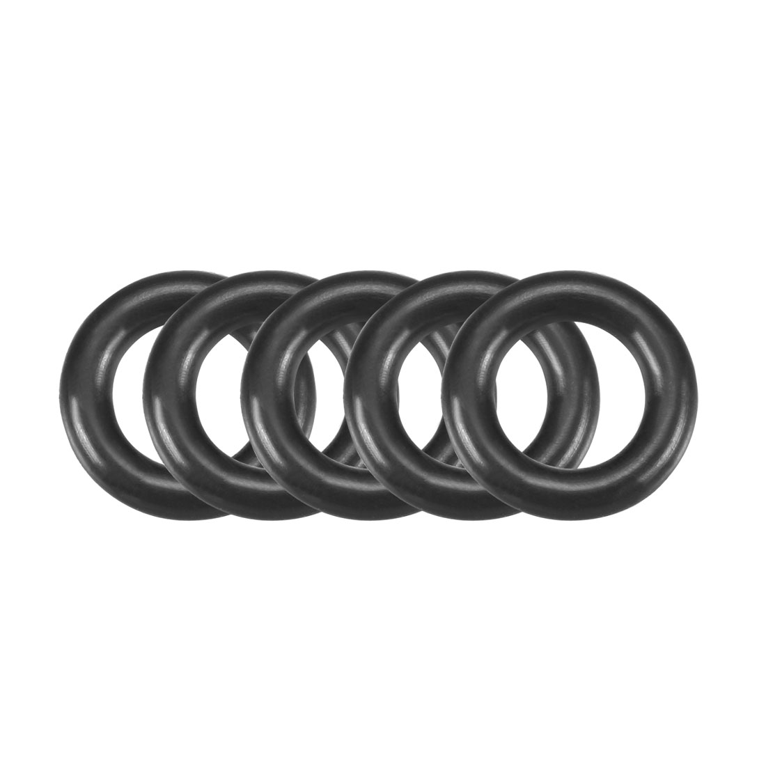 50 Pcs 17mm x 3.5mm NBR Nitrile Rubber O Ring Sealing Gaskets Black
