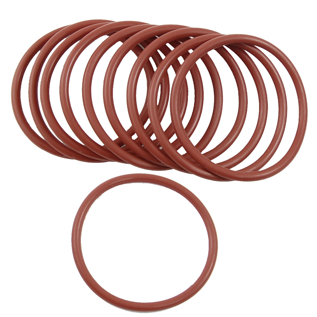 10 Pcs 55mm OD 3.5mm Thickness Red Silicone O Rings Oil Seals Gaskets