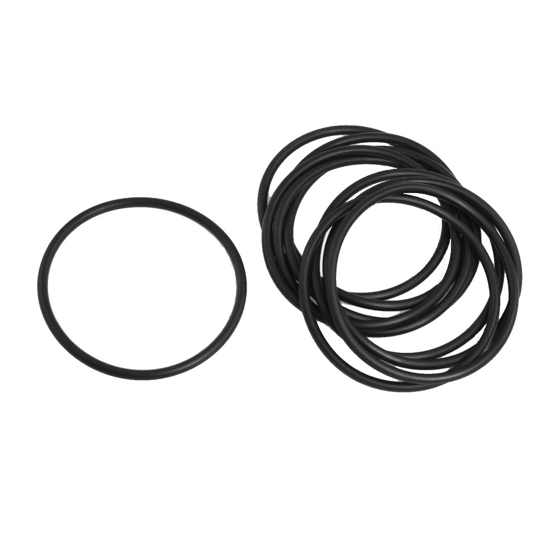 10x Black 60mm OD 54mm Inner Dia Nitrile Rubber O-ring Oil Seal Gaskets