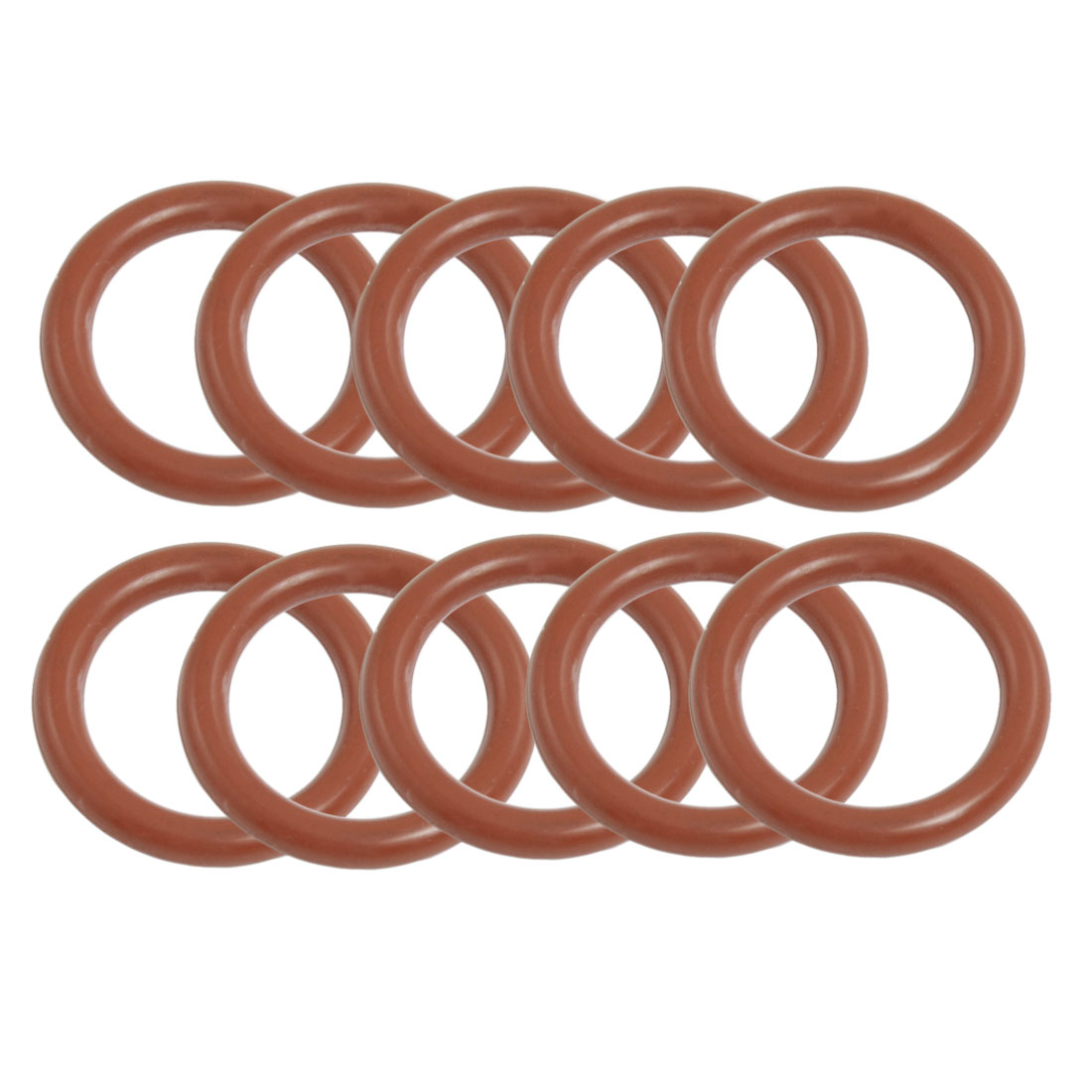 10 Pcs 25mm OD 3.5mm Thickness Red Silicone O Rings Oil Seal Gaskets