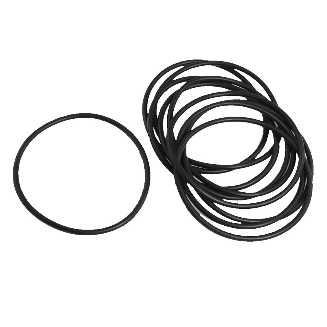 10 Pcs 70mm x 3mm x 64mm Mechanical Black NBR O Rings Oil Seal Washers