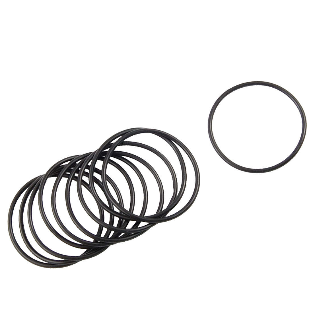 10 Pcs Black Metric O Rings Nitrile Rubber 40mm OD 2mm Thickness