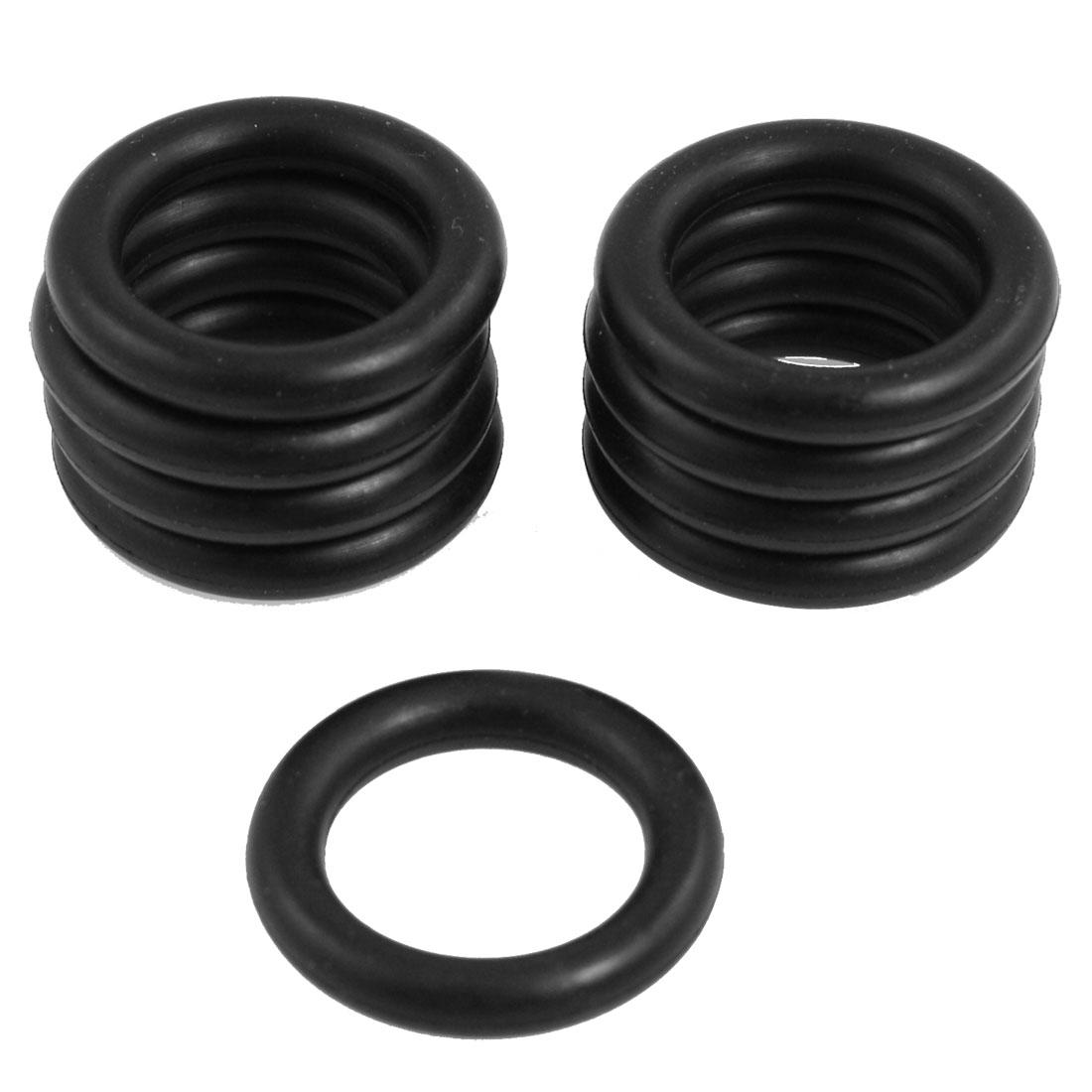 10 Pcs Black Nitrile Rubber O Ring NBR Seal Washer 30mm x 5mm