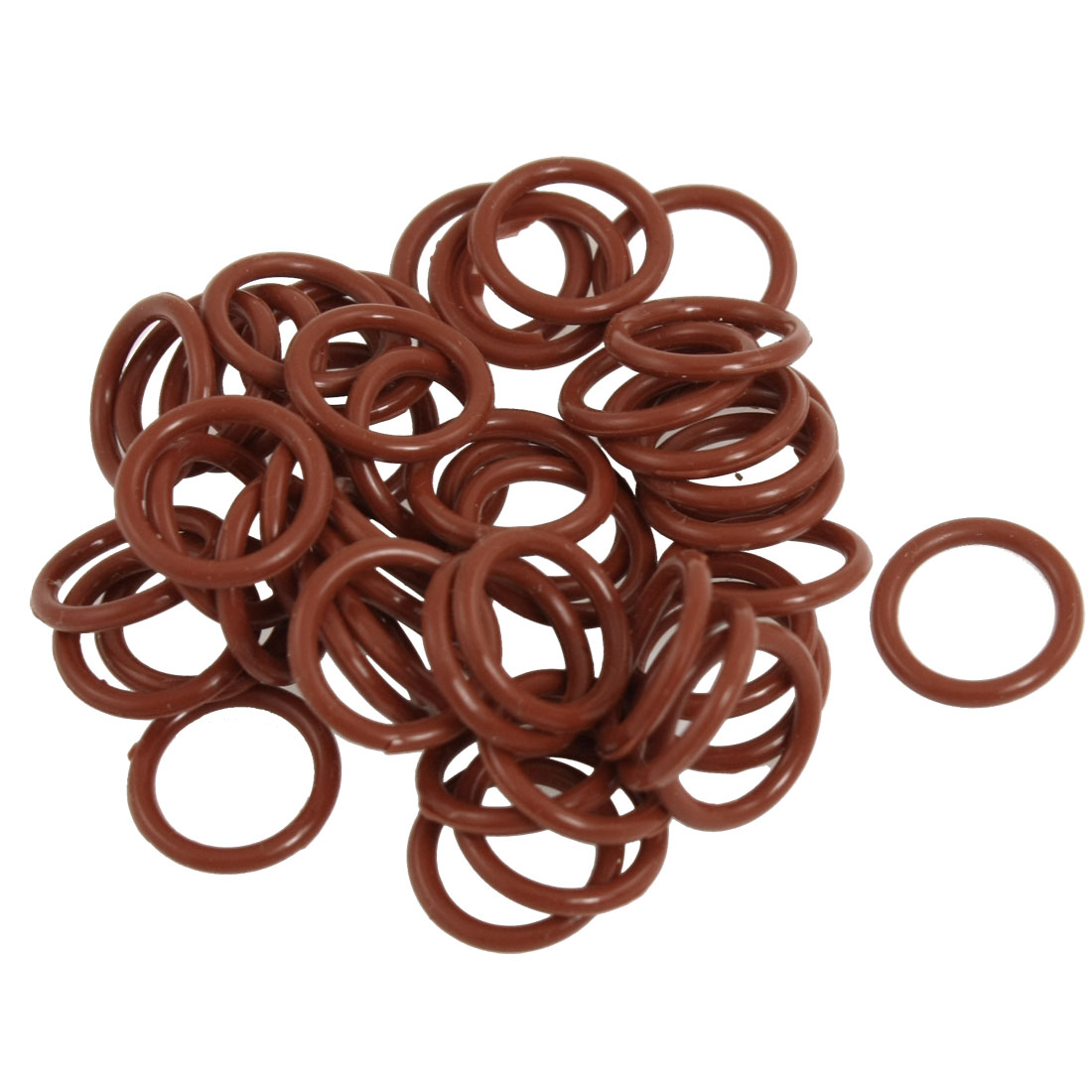 50 Pcs Red Silicone O Ring Oil Seals Gaskets 15mm x 2mm