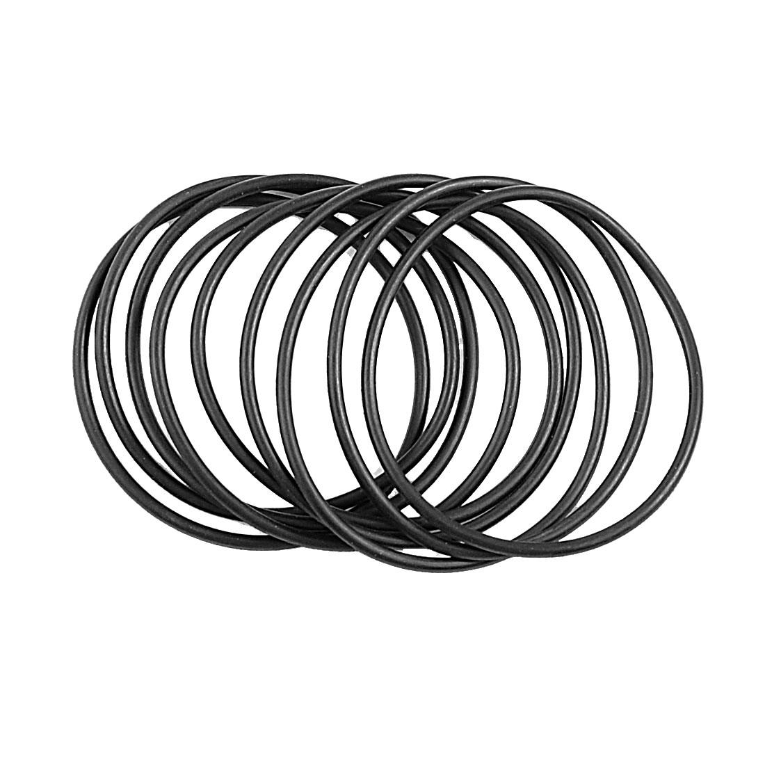 10 Pcs Metric O Rings Black Nitrile Rubber 47mm OD 2mm Thick