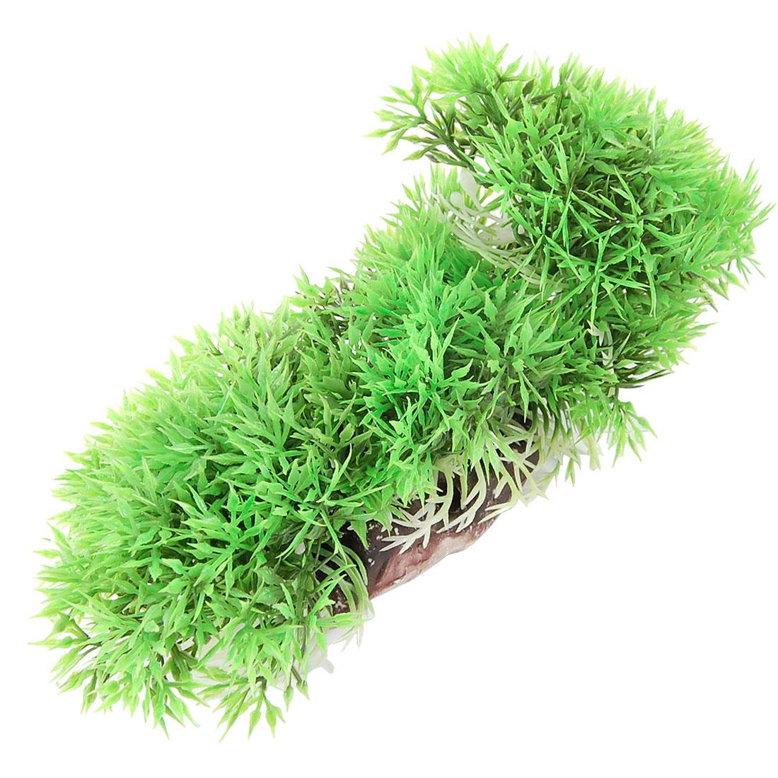 "2.8"" Height Artificial Ball Flower Grass Plant Green for Fish Tank"