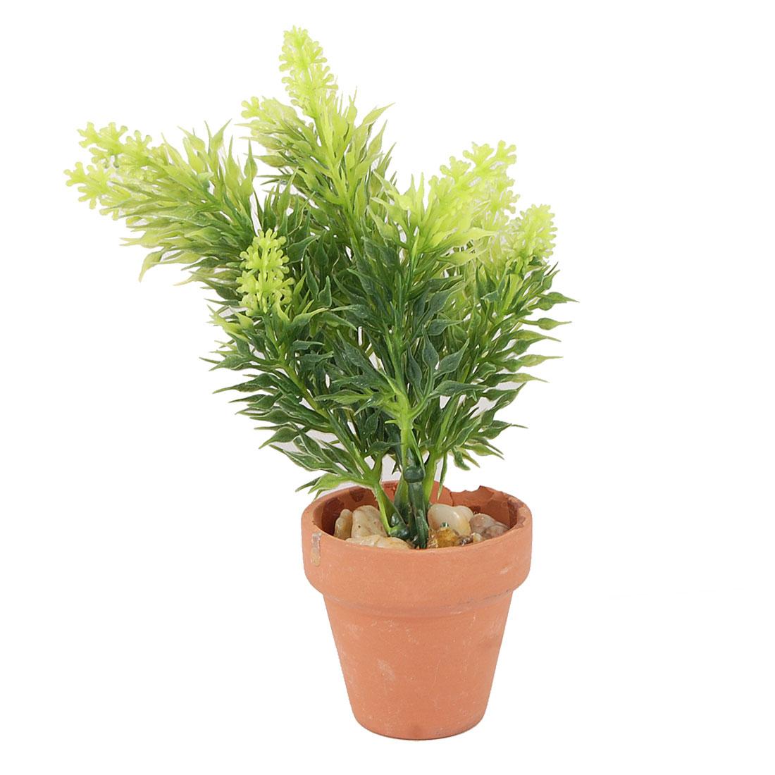 """Aquarium Decor Ceramic Pot Manmade Bonsai Grass Plant 6"""" Height"""