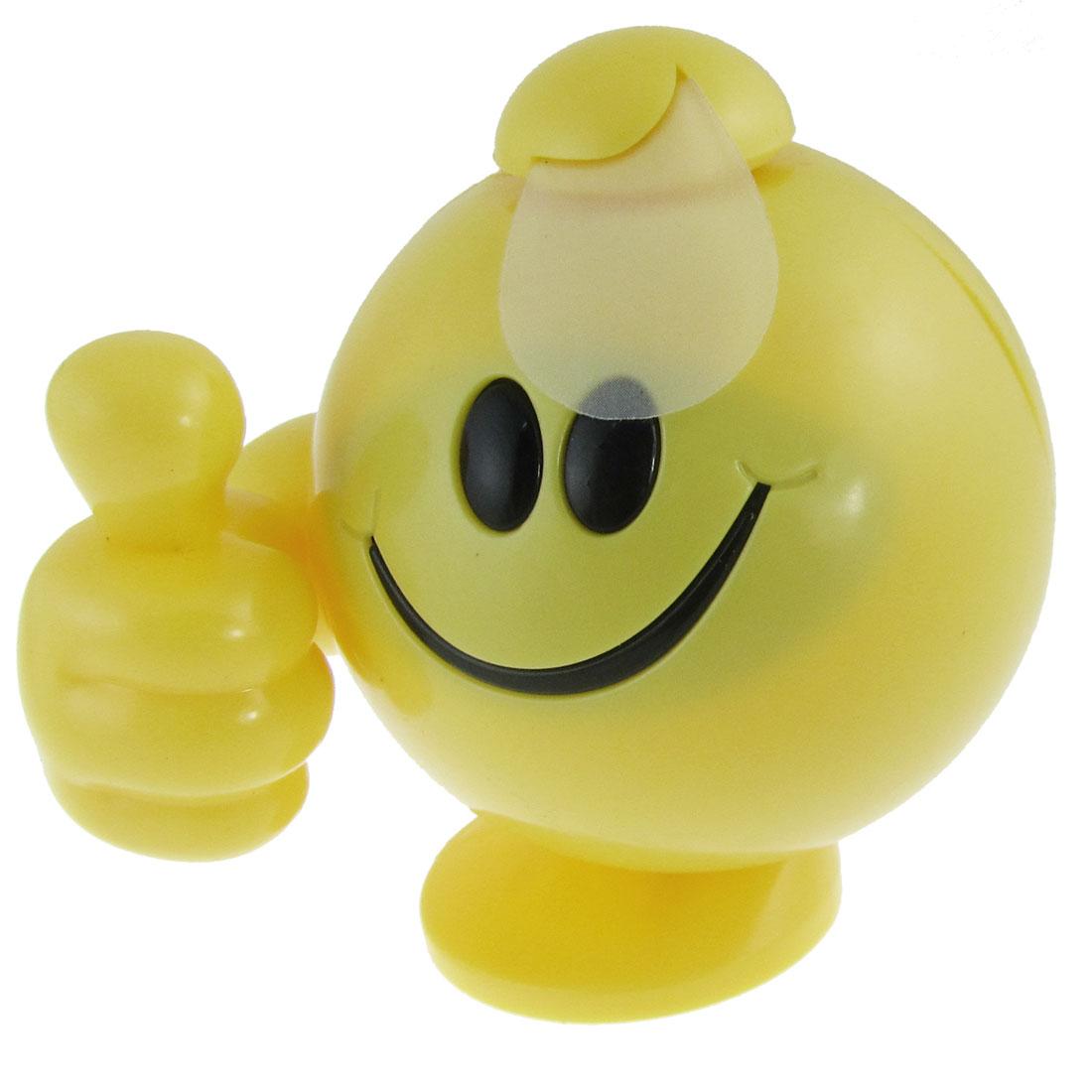 AAA 1.5V Yellow Plastic Thumb Battery Operated Mini Pocket Fan