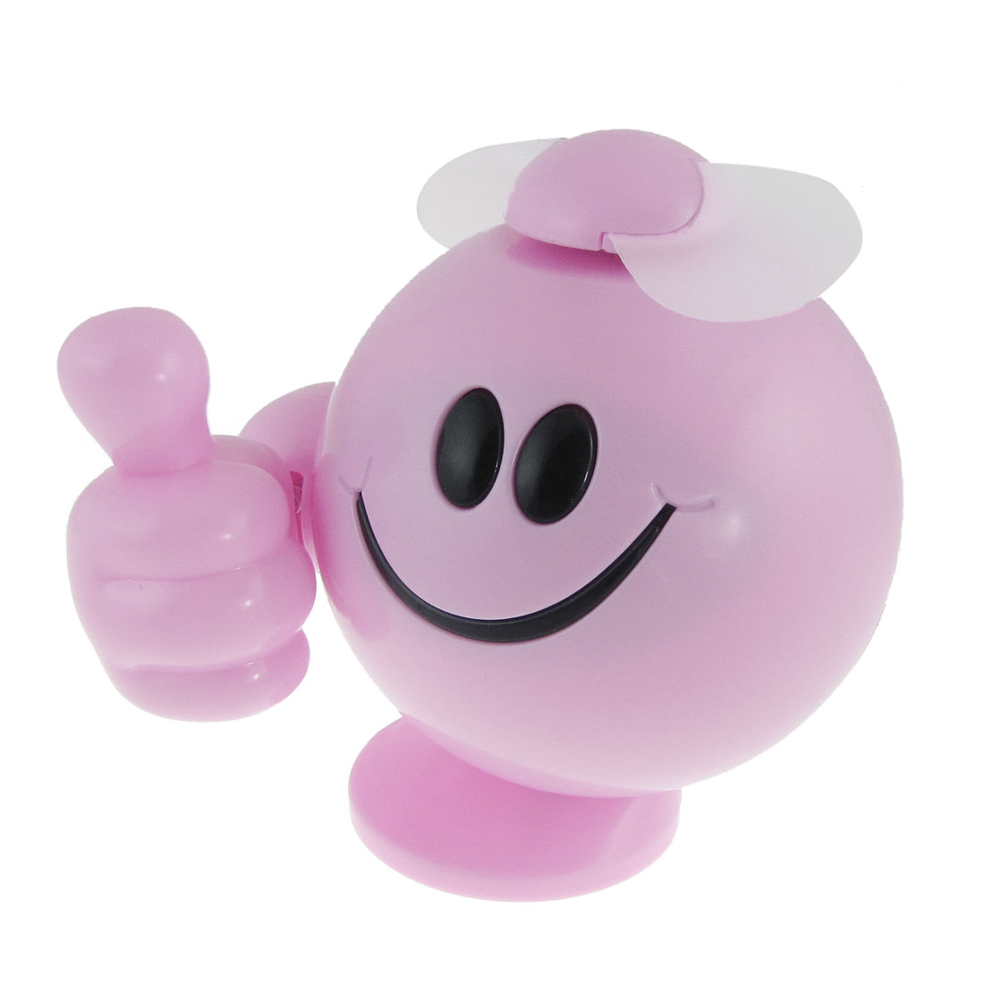 Cartoon Thumb Figure 2 AAA Battery Operated Mini Fan Pink