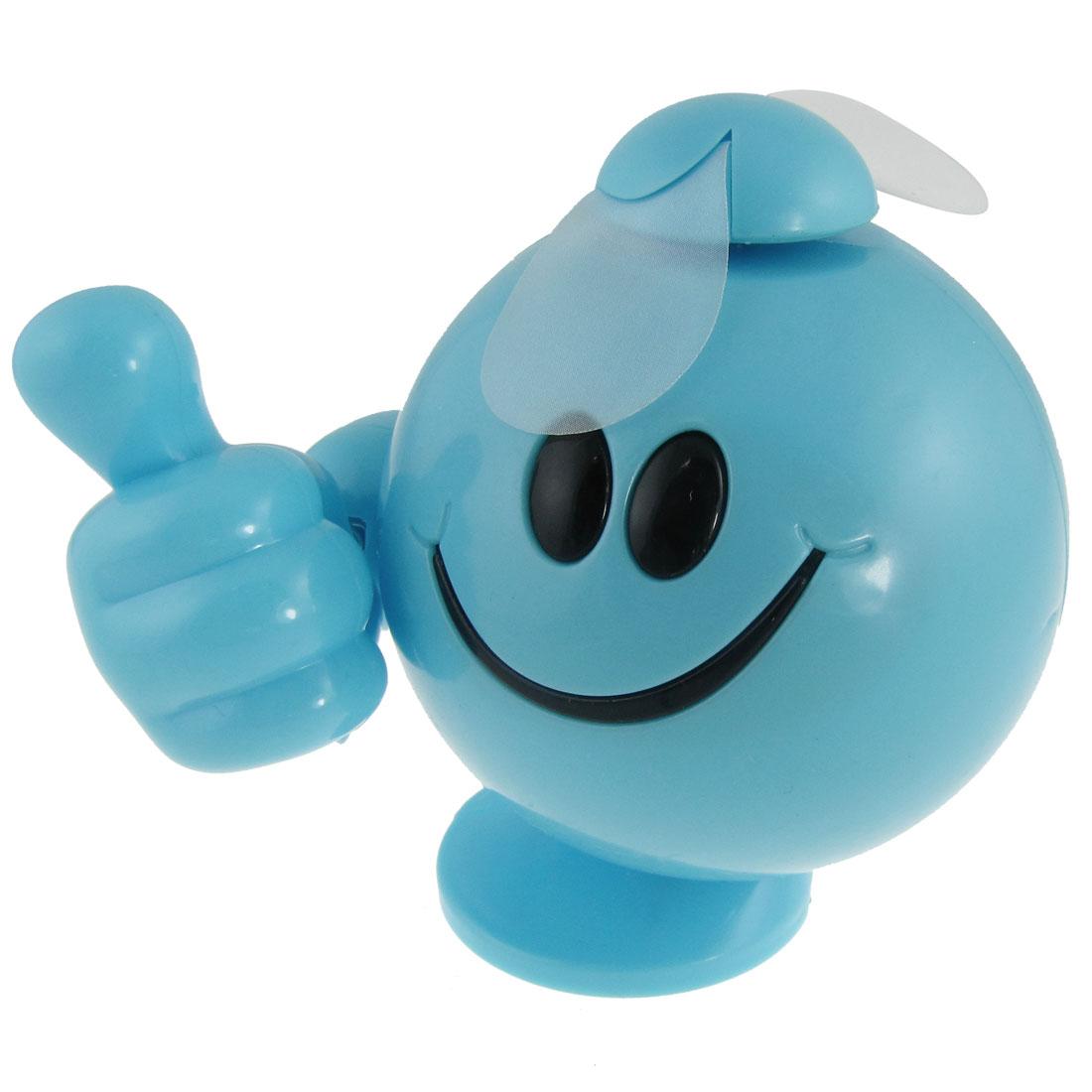 Cooling Soft Paddle Blue Plastic Thumb Figure 2 AAA Battery Powered Mini Fan