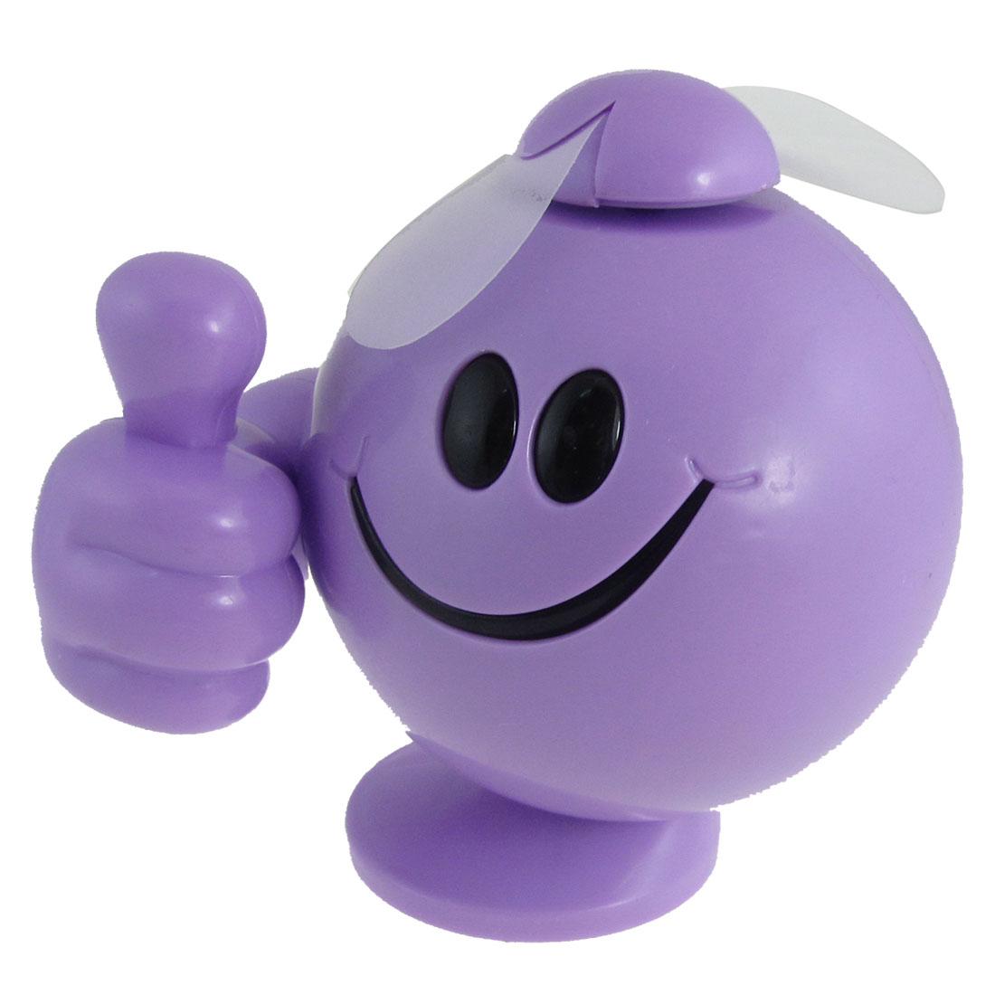 Purple Plastic Thumb Figure 2 AAA Battery Operated Mini Fan