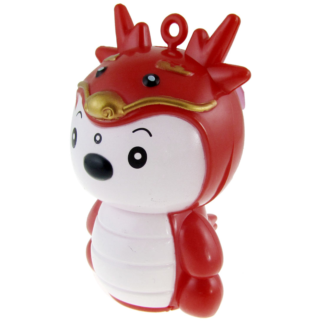 Red White Cartoon Baby Dragon Mini Pocket Battery Powered Fan