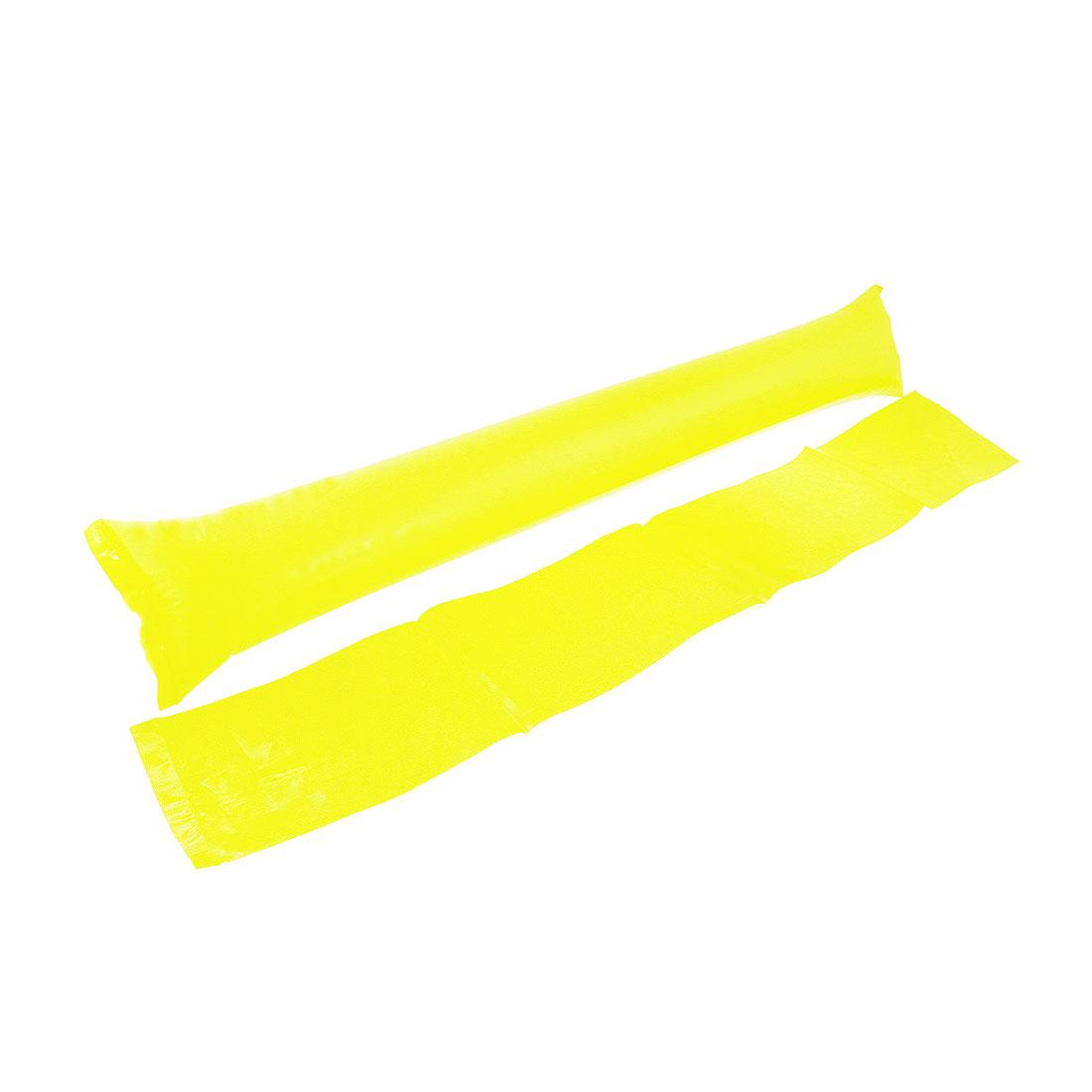 5 Pairs Plastic Inflatable Match Cheer Balloons Bang Bar Stick Yellow