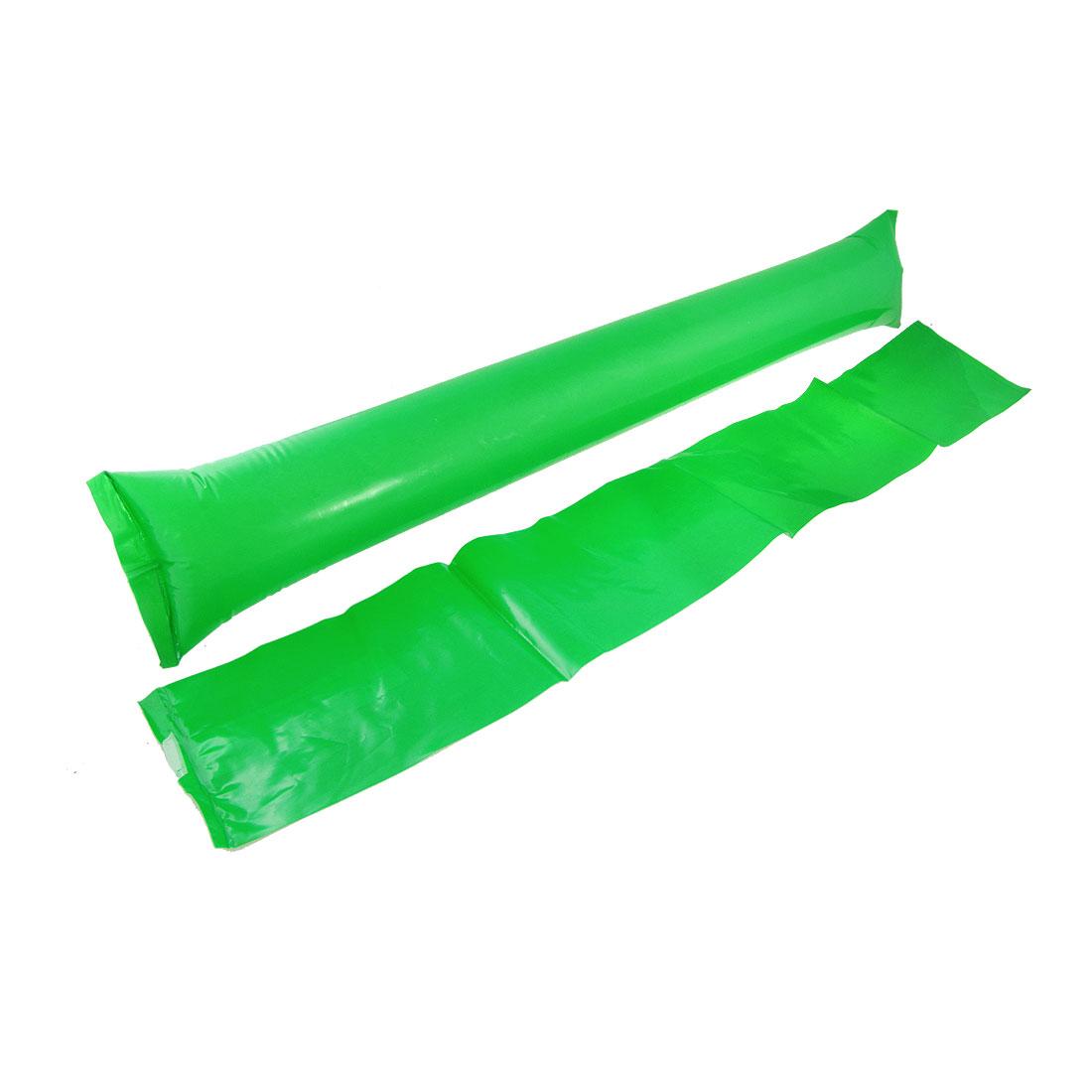 5 Pairs Green Plastic Inflatable Cheer Balloons Bang Bar w Straw