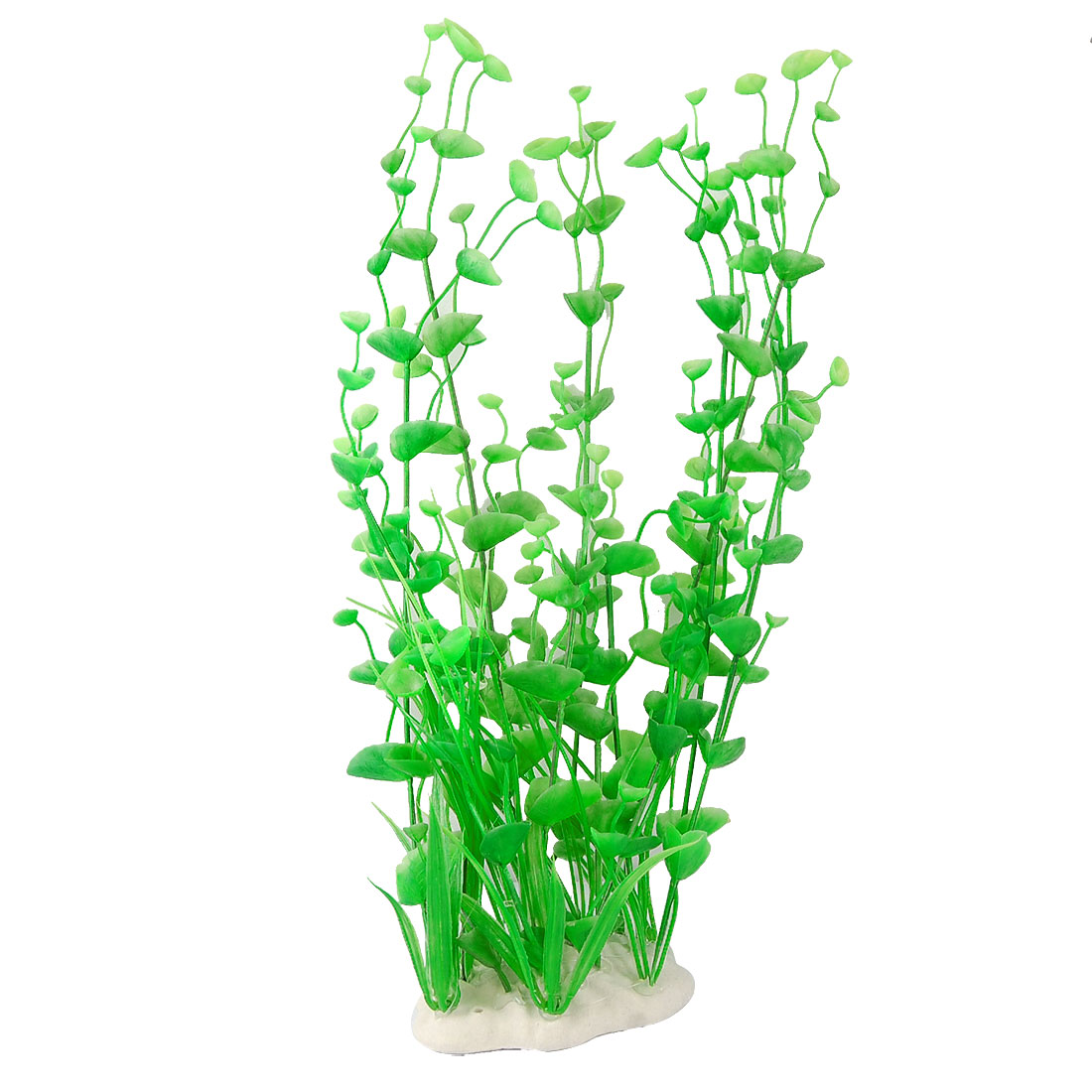 Fish Tank Simulated Green Plastic Plant Grass Ornament 15.3""
